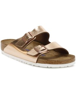 Womens Metallic Copper Arizona Sandals