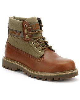 Mens Brown Sugar/olive Saga Canvas Boots