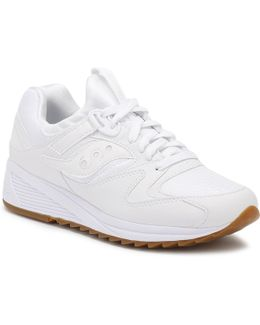 White Grid 8500 Trainers