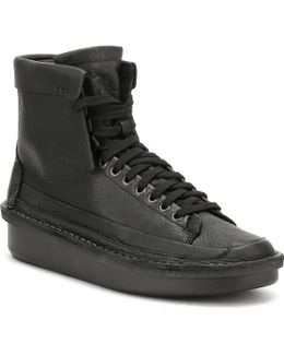 Mens Black Leather Oswyn Hi Shoes