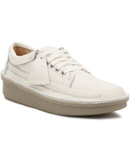 Mens White Leather Oswyn Lo Shoes
