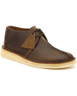 Mens Beeswax Leather Desert Trek Shoes