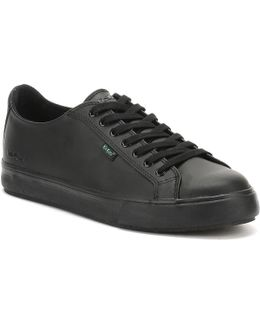 Black Leather Tovni Lacer Trainers