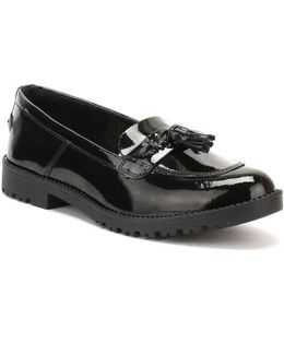 Womens Black Patent Leather Lachly Tass Loafers