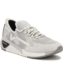 Mens White S-kby Slip On Trainers