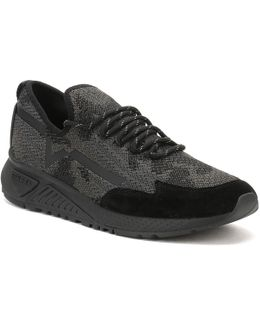 Mens Black S-kby Slip On Trainers