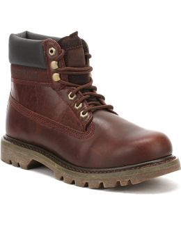 Mens Burgundy Colorado Boots