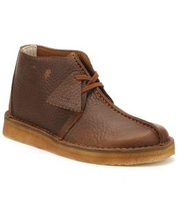 Mens Cola Leather Desert Trek Boots