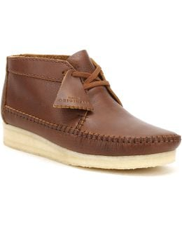 Mens Tan Leather Weaver Boots