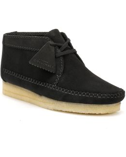 Mens Black Suede Weaver Boots