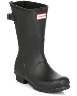 Original Short Black Back Adjust Wellington Boots