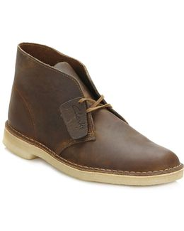 Mens Beeswax Desert Leather Boots
