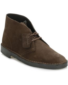 Mens Brown Desert Suede Boots