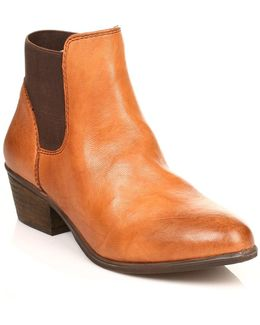 Womens Tan Rosamare Leather Boots