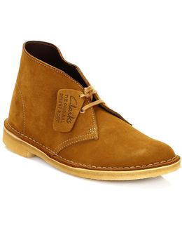 Womens Bronze & Brown Suede Desert Boots