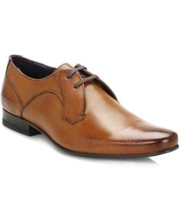Mens Tan Martt 2 Leather Derby Shoes