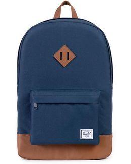 Navy/tan Heritage Backpack