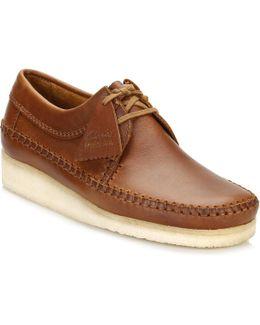 Mens Tan Weaver Leather Shoes