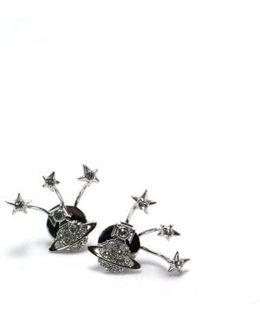 Pia Earrings Rhodium/crystal Colour: Rho