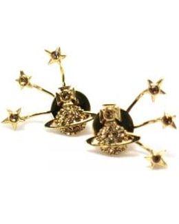 Pia Earrings Gold/topaz Colour: Gold, Uk