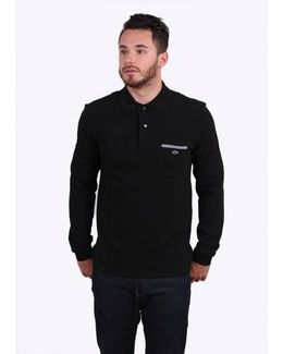 Ls Pocket Polo Colour: Black, Uk Size: 2