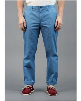 Chino Trousers River Blue Colour: Blue, Uk Size: