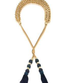 Open Lariat Tassel Necklace