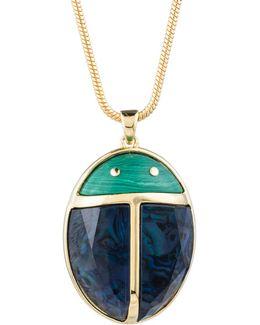 Sunset Ladybug Pendant Necklace