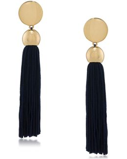 Gld/nav Tassel Post Earring