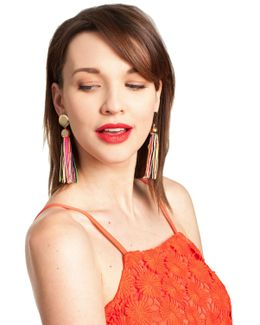 Gld/mlt Tassel Post Earring