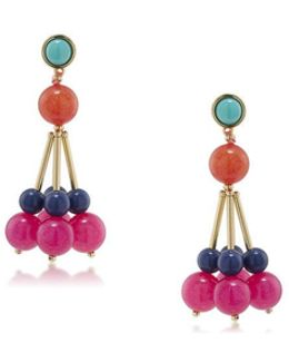 Cluster Bead Drop Post Earring