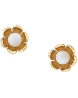 Palm Springs Flower Stud Earring