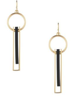 Sunset Linear Drop Hoop Earring