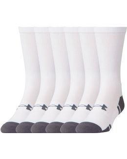 Men's Ua Resistor Iii Crew Socks 6-pack