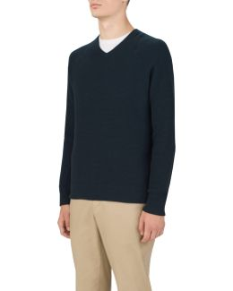 Men's Uas Gridknit V-neck Sweater