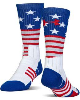 Men's Ua Unrivaled Stars & Stripes Crew Socks