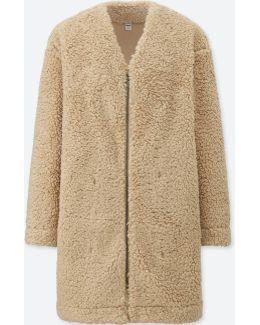 Women Fleece Long-sleeve Coat