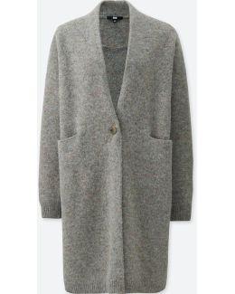Women Melange Wool Coat