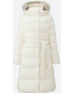 Women Light Weight Down Hooded Coat