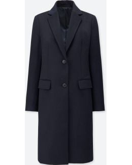 Women Wool Cashmere Chester Coat
