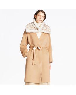 Women Double Face Collarless Coat