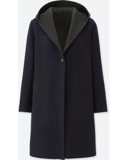 Women Double-face Hooded Coat