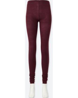 Women Heattech Knitted Extra Long Leggings