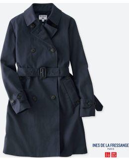 Women Idlf Cotton Twill Trench Coat