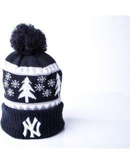 Bobble Cuff Knit Hat