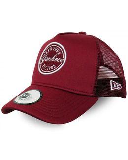 Ny Yankees Emblem A Frame Trucker Cap