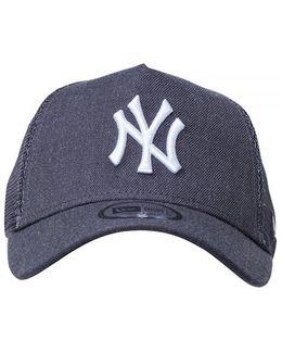 Ny Yankees Essential A Frame Trucker Cap- Heather Grey