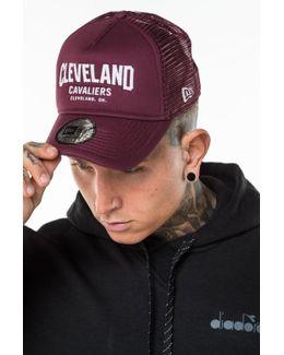 Cleveland Cavaliers Chain Stitch Maroon Trucker Cap