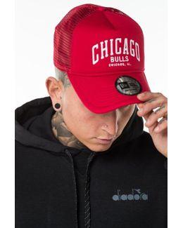 Chicago Bulls Chain Stitch Trucker Cap