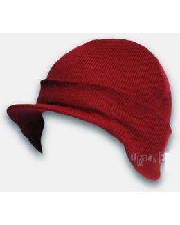 Cuffed Visor Beanie Hat